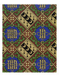 Diamond Print Ecclesiastical Wallpaper Design Giclee Print by  Augustus Welby Pugin