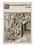 Sir Launcelot Slayeth the Worm of Corbin, from 'The Story of Sir Launcelot and His Companions' Giclee Print by Howard Pyle