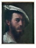 Self Portrait, 1525-30 Giclée-tryk af Francesco Primaticcio