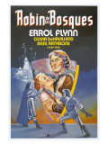 The Adventures of Robin Hood, Spanish Movie Poster, 1938 Premium Giclee Print
