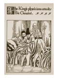 King's Physicians Attend Sir Geraint, Illustration, 'The Story of Grail and the Passing of Arthur' Giclee Print by Howard Pyle