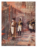 Napoleon Watching the Fire of Moscow, Illustration from 'Hutchinsons History of Nations' Giclee Print by Nikolai Stepanovich Vereshchagin