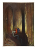 Dark Cavern, 1906 Giclee Print by Hermann Hendrich