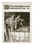 Sir Kay showeth the mystic Sword unto Sir Ector, 'The Story of King Arthur and his Knights' Giclee Print by Howard Pyle