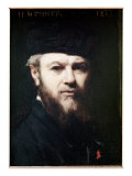 Self Portrait, 1877 Giclee Print by Jean-Jacques Henner