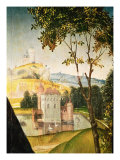 Landscape with Castle in a Moat and Two Swans, 1460-66 Giclee Print by Rogier van der Weyden