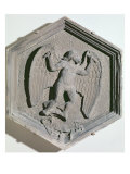 The Art of Flight, Daedalus, Hexagonal Decorative Relief Tile, Arts and Sciences Practitioners Giclee Print by Andrea Pisano