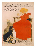 Poster advertising Milk, published by Charles Verneau, Paris, 1894 Giclee Print by Théophile Alexandre Steinlen