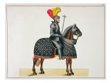 Knight in Armour on his Horse, Plate from 'A History of the Development and Customs of Chivalry' Giclee Print by Friedrich Martin Von Reibisch
