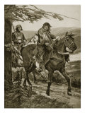 King Dermot Carries of Devorgil, Illustration from 'Hutchinson's Story of British Nation', C.1920 Giclee Print by Richard Caton Woodville