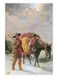Fur Trapper Crossing the Mountains Giclee Print by William Tylee Ranney