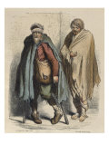 Beggars, after Jacques Callot Giclee Print by Albert Charles August Racinet