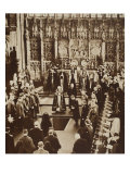King Edward VIII Sprinkles Earth on His Father's Coffin, 1936 Giclee Print by John Hill