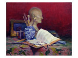Still Life with Head of Voltaire Giclee Print by Jules Ernest Renoux
