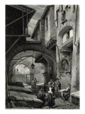 The Ghetto, Rome, engraved by S.V. Hunt, Cassell and Company, 1847 Giclee Print by Louis Haghe