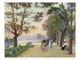Cours-la-Reine, Paris Giclee Print by Jules Ernest Renoux