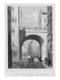 South Bridge from the Cowgate, Edinburgh engraved by William Watkins, 1831 Giclee Print by Thomas Hosmer Shepherd