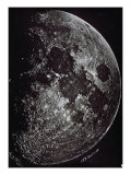 Photograph of the Moon in 1865 Giclee Print by Lewis M. Rutherford