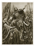 Elevation of Edward the Elder at Coronation at Kingston-On-Thames, 'The Illustrated London News' Giclee Print by Richard Caton Woodville