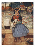 A Girl with a Rabbit, 1904 Giclee Print by Nico Jungman