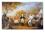 Surrender of General Burgoyne at Saratoga, New York, 17 October 1777 Giclee Print by John Trumbull