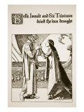 Belle Isoult and Sir Tristram Drink the Love, Illustration 'The Story of Champions of Round Table' Giclee-vedos tekijn Howard Pyle