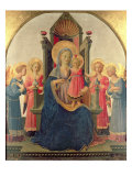 Enthroned Madonna Giclee Print by Zanobi Di Benedetto Strozzi