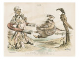 Caricature of Uncle Sam and Canada, Cover of &#39;Puck Magazine&#39;, c.1896 Reproduction proc&#233;d&#233; gicl&#233;e par Joseph Keppler
