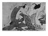 Lovers Gicléetryck av Kitagawa Utamaro