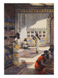 Famous Library of Kinf Ashur-Bani-Pal, at Nineveh, Illustration 'Hutchinson's History of Nations' Giclee Print by Fernand Le Quesne