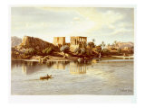 View of the Island Philae, 1874 Giclee Print by Carl Friedrich Heinrich Werner
