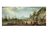 Wild Goat Hunting on the Coast, 1620 Giclee Print by Adam Willaerts