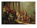 Solomon and the Queen of Sheba, or Esther before Ahasuerus, 1624 Giclee Print by Claude Vignon