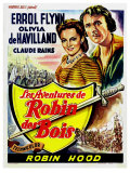 The Adventures of Robin Hood, Belgian Movie Poster, 1938 Giclee Print