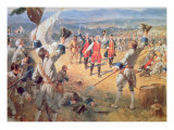 The Victory of Montcalms Troops at Carillon, 1758 Giclee Print by Henry Alexander Ogden