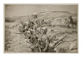 Fix Bayonets! Repelling an Attack from the Trenches around Ladysmith, 1900 Giclee Print by Richard Caton Woodville