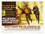 Butch Cassidy and the Sundance Kid, UK Movie Poster, 1969 Giclée-tryk