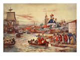 Peter the Great's Naval Preparations Giclee Print by Maurice Randall