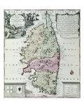 Map of Corsica Giclee Print by Matthaus Seutter