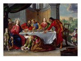 Christ in the House of Simon the Pharisee, c.1635 Giclée-Druck von Claude Vignon