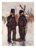 Old Dutchmen on Skates, 1904 Giclee Print by Nico Jungman