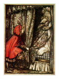 Rödluvan Gicleetryck av Arthur Rackham