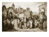 Leopold Vi Entering Vienna, 1219 Giclee Print by Josef Mathias Trenkwald