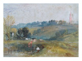 Landscape near Petworth, c.1828 Giclee Print by Joseph Mallord William Turner