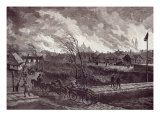 The Burning of Stry, Near Lemberg, from The Illustrated London News, 1st May 1845 Giclee Print by Johann Nepomuk Schonberg