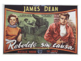 Rebel Without a Cause, Spanish Movie Poster, 1955 Giclee Print