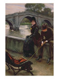 Richmond Bridge, c.1878 Giclee Print by James Tissot