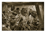 The Russo-Japanese War: a Hand-To-Hand Struggle in the Earthworks at Port Arthur Giclee Print by Richard Caton Woodville
