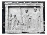 Man, Woman and Child Before an Altar Offering a Sow as a Sacrifice to Demeter and Kore Giclee Print by  Praxiteles