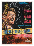 The Good, The Bad and The Ugly, Spanish Movie Poster, 1966 Print